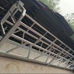 zlp630 / 800 ll سبائك الألومنيوم الشكل ، البناء الصلب علقت منصة العمل رفع على بناء النوافذ